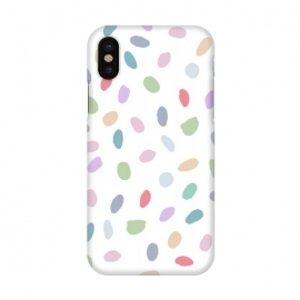 iPhone X  Color Oval Dots by Creativeaxle