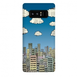 Galaxy Note 8  The city of paper clouds by Mangulica