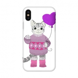 iPhone Xs / X  Cute Cat by Merveilleux Clement