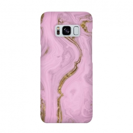 Elegant Pink Marble With Gold by Andrea Haase