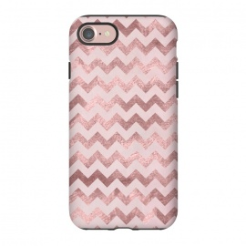 iPhone 8/7  Elegant Rose Gold Chevron Stripes by Andrea Haase