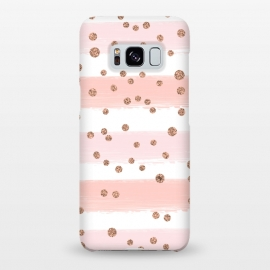 Galaxy S8+  Pink girly stripes by Martina