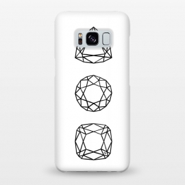 Galaxy S8+  Black Diamonds by Martina (black and white,diamonds,stones,geometric,modern,stylish,feminine,for her,illustration,graphic)