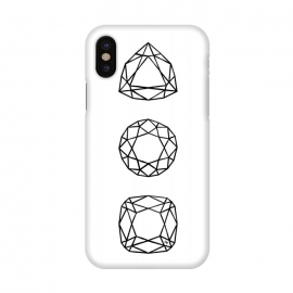 iPhone X  Black Diamonds by Martina