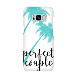 Perfect Couple by Martina (couple,friends,marriage,husband,wife,palms,tropical,exotic,nature,palm tree,tree,typography,modern,text,for couple,wedding gift)