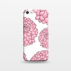 iPhone 5C  Pink Chrysanthemum by Martina (pink,floral,flowers,chrysanthemum,nature,feminine,illustration,modern,stylish,martinaillustration,for her)