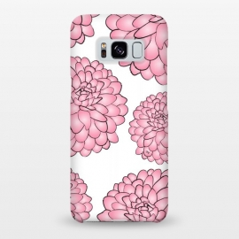 Galaxy S8+  Pink Chrysanthemum by Martina (pink,floral,flowers,chrysanthemum,nature,feminine,illustration,modern,stylish,martinaillustration,for her)