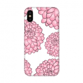 iPhone X  Pink Chrysanthemum by Martina (pink,floral,flowers,chrysanthemum,nature,feminine,illustration,modern,stylish,martinaillustration,for her)