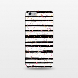 iPhone 5/5E/5s  Painted Stripes by Martina (for her,unisex,stripes,dots,polka dots,modern,abstract,stylish,illustration,paint,geometric,graphic,elegant)