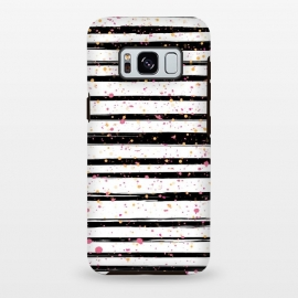 Galaxy S8+  Painted Stripes by Martina (for her,unisex,stripes,dots,polka dots,modern,abstract,stylish,illustration,paint,geometric,graphic,elegant)