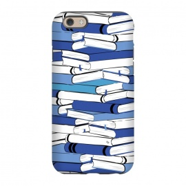 iPhone 6/6s  Blue Books by Martina (for her,for him,reading,books,bookworm,illustration,modern,unisex,stylish,martina)