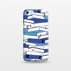 iPhone 5C  Blue Books by Martina (for her,for him,reading,books,bookworm,illustration,modern,unisex,stylish,martina)