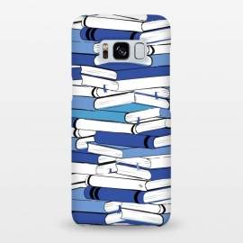 Galaxy S8+  Blue Books by Martina (for her,for him,reading,books,bookworm,illustration,modern,unisex,stylish,martina)