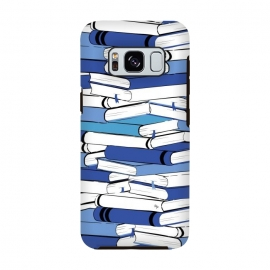 Blue Books by Martina (for her,for him,reading,books,bookworm,illustration,modern,unisex,stylish,martina)