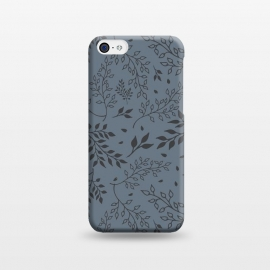 iPhone 5C  Leaves Illustrated Gray by ArtPrInk