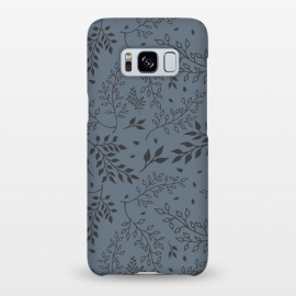 Galaxy S8+  Leaves Illustrated Gray by ArtPrInk