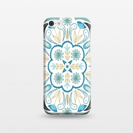 iPhone 5C  Floral Medallion by TracyLucy Designs (floral ,medallion ,illustration,geo,ethnic,tile,mandala)