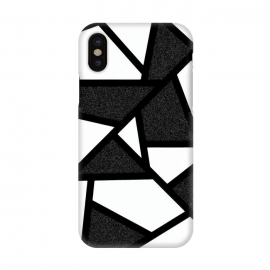 iPhone X  White and black geometric by Jms