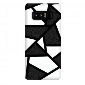 Galaxy Note 8  White and black geometric by Jms