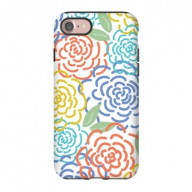 iPhone 8/7  Roses I by TracyLucy Designs (floral,roses,illustration,colorful)