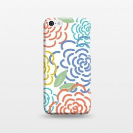 iPhone 5C  Roses by TracyLucy Designs (floral,roses,illustration,colorful)