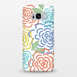 Galaxy S8+  Roses by TracyLucy Designs (floral,roses,illustration,colorful)