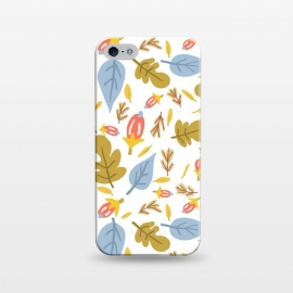 iPhone 5/5E/5s  Leaflets by Uma Prabhakar Gokhale (graphic design, pattern, floral, nature, leafy, leaves, exotic, botanical, summer, autumn, seamless, repeating pattern)