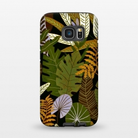 Galaxy S7  Green Aloha Tropical Jungle by Utart (abstract, aloha, botanic, botanical, botany, colorful, drawing, drawn, exotic, fashion, flora, floral, flower, foliage, forest, garden, green, hawaii, hawaiian, illustration, jungle, leaf, natural, nature, palm, pattern, philodendron, plant, spring, summer, tree, trendy, tropic, tropical, tropical l)
