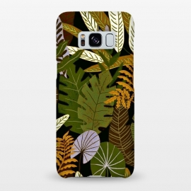 Galaxy S8+  Green Aloha Tropical Jungle by Utart