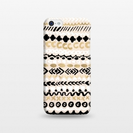 iPhone 5C  Black, White & Gold Tribal by Tangerine-Tane