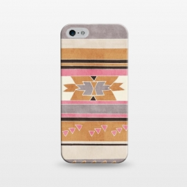 iPhone 5/5E/5s  Orange & Pink Aztec Tribal by