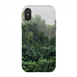 iPhone Xs / X  Tropical Foggy Forest by ''CVogiatzi. (wood, digital, cv, cvogiatzi, new, design, decor, home, foggy, forest, woods, trees, jungle, green, nature, firs, tropical, exotic, wild, mountain, mountains, beauty, fog, mist, rainy, rain, clouds, bath, bathroom, curtain, silence, pure, live)