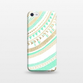 iPhone 5C  Mint & Gold Tribal by Tangerine-Tane