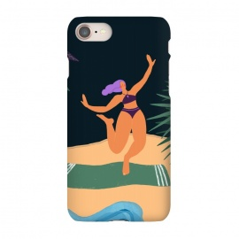 iPhone 8/7  Eve - Dancing Girl at Tropical Jungle Beach by Utart