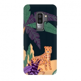 Galaxy S9 plus  Cheetah on Tropical Beach by