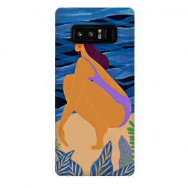 Galaxy Note 8  Eve - Girl on Tropical Jungle Beach by Utart
