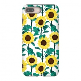 Sunny Sunflowers - White  by Tigatiga