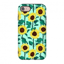 iPhone 8/7  Sunny Sunflowers - Mint  by Tigatiga