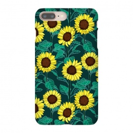 iPhone 8/7 plus  Sunny Sunflowers - Emerald  by