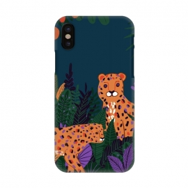 iPhone X  Two Cheetahs in Tropical Jungle by Utart