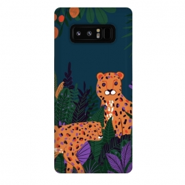 Galaxy Note 8  Two Cheetahs in Tropical Jungle by Utart