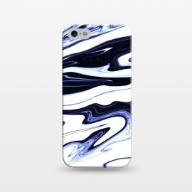 iPhone 5/5E/5s  September 1 by Ashley Camille (marble,wavy,waves,abstract,white,blue,navy,paint,painted,marbled,marbling)