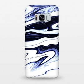 Galaxy S8+  September 1 by Ashley Camille (marble,wavy,waves,abstract,white,blue,navy,paint,painted,marbled,marbling)