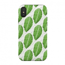 Swirly Green Leaf Pattern by Boriana Giormova