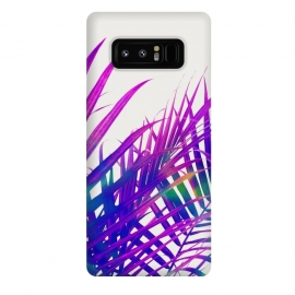 Galaxy Note 8  Colorful Palm by  (graphic design, digital manipulation, modern, palm, tropical, bold, colorful, purple, palm leaves, nature, travel, coconut tree)