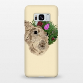 Galaxy S8+  Flowers with dog by Merveilleux Clement