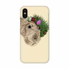 iPhone X  Flowers with dog by