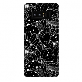 Galaxy Note 8  Black and white autumn pattern by Steve Wade (Swade)