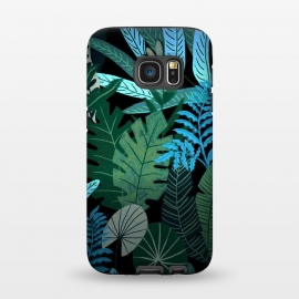 Galaxy S7  Tropical Jungle at Night- Eve's Jungle by Utart ( spring, nature, season, floral, beautiful, flora, blooming, natural, beauty, botany, summer, springtime, botanical, romantic, vintage, flowers, retro, pattern, girly, trendy, modern, fashion, utart, woman, women, feminine, girl, girls, chic, tropical, exotic, hawaii,illustration,botanic,drawing,pai)