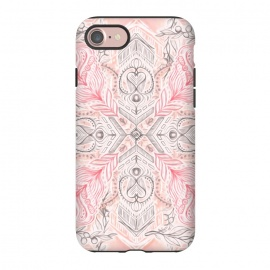 iPhone 8/7  Boho Soft Peach Pink Tribal Pattern by Micklyn Le Feuvre
